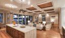 Night shot kitchen & family room