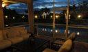 Screened patio night
