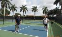 two pickle ball courts