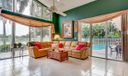Family Room with Sliding Glass Doors