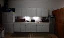 Garage Fully Tiled & Cabinets