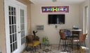 Enclosed porch with wall ac
