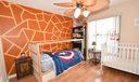 Bedroom 2 w/ new ceiling fan