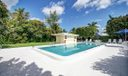 Heated pool and pool house