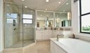 Stall Glass Shower in Master Bath