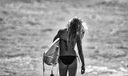 326 Surfer Girl In B&W