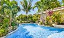 Salt water pool with sunshelf