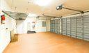 Oversized Garage with Storage Racks