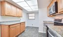 Stainless appliances and granite counter