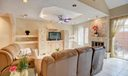 Tray Ceiling in Living