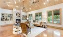 Family Room w/coquina stone fireplace