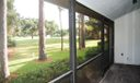 REAR SCREENED  PATIO ON GOLF COURSE