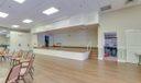 Staged hall.
