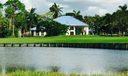 Rear view across golf course