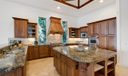 Open kitchen with extra large island