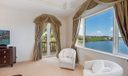 Master Suite with waterviews and Terrace