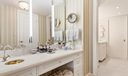Marble Master Bathroom With Spa