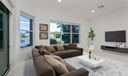 Family room virtually staged