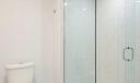 Stylish cobblestone shower floor