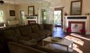 Hibiscus living room mirror