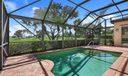 Screened Pool Overlooking  Golf Views