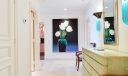 Foyer with powder room