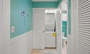 interior washer and dryer storage closet