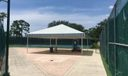 Picnic area between Courts