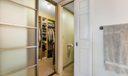 Master closet with built ins
