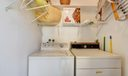 your own washer/dryer and storage area