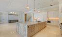 Quartzite Counters highlight Kitchen