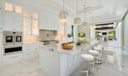 Staged Gourmet Kitchen