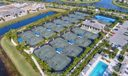 AERIAL VIEW OF TENNIS CENTER