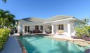 Sunny pool patio