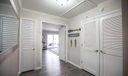 View from hallway w/ linen closet