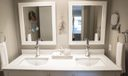 Master vanity and double sink