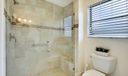 Master Bathroom Shower & Toilet Area