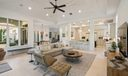 Whitewashed Pecky Cypress Ceiling