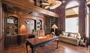 Hardwood Paneled Library