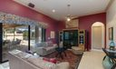 Family room opens to pool and kitchen