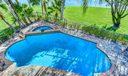 Custom Pool with Raised Spa
