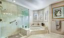 Bath Separate Glass Enclosed Shower