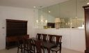 dining room mirrored entertainment