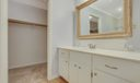 Master Bath with Large Walk-In Closet