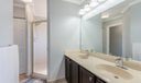 Double vanity with beautiful cabinetry