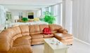 Leather sectional in Living Room