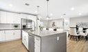 Kitchen w quartz countertops