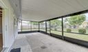 Covered and screened Patio