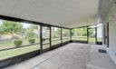 Large Covered and screened Patio