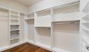 Master closet w/ built ins